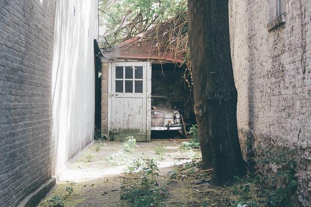 broken down garage door